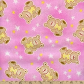 Premium Prints Bears Cotton Fabric - Pink 5308-22