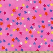 Premium Prints Stars Cotton Fabric - Pink 5310-22