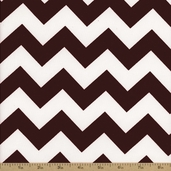 Prestige American Chevron Coton Fabric - Brown / White