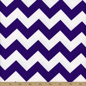 Prestige American Chevron Cotton Fabric - Purple / White