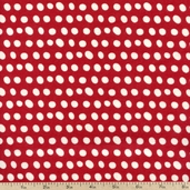 Pretty Paisley Flannel Fabric Flannel - Red ALIF-11984-3 RED