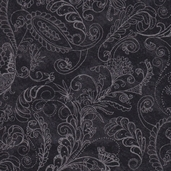 Prima Flora Cotton Fabric - Dotty Paisley Black