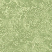 Prima Flora Cotton Fabric - Dotty Paisley Green