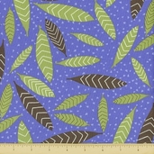 Primativa Cotton Fabric - Falling Leaf - Lavender