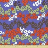 Primativa Cotton Fabric - Wonky Dot - Lavender - Clearance