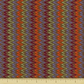 Primativa Cotton Fabric - Zig Zag - Charcoal