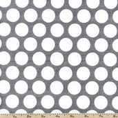 Princess Collection Vintage Polka Dot Cotton Fabric - White T-00309