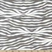 Princess Collection Zebra Print Dot Cotton Fabric - Gray T-00315