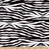 Princess Zebra Print Cotton Fabric T-00314