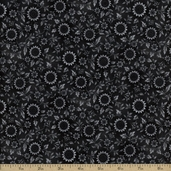 Prized Poultry Cotton Fabric - Charcoal ALX-13006-184