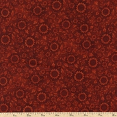 Prized Poultry Sunflower Cotton Fabric - Rust ALX-13006-179 RUST