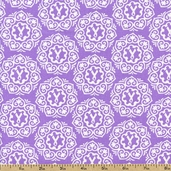 Project Pink Wreath Cotton Fabric - Lavender