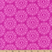 Project Pink Wreath Cotton Fabric - Pink