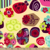 Punch Garden Floral Flannel Fabric - Retro