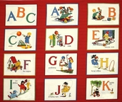 Punctuation Alphabet Card Panel - Red