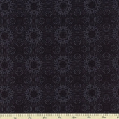 Queen of the Night Cotton Fabric Black K7103-4