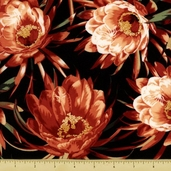Queen of the Night Large Floral - Cotton Fabric Red K7100-5