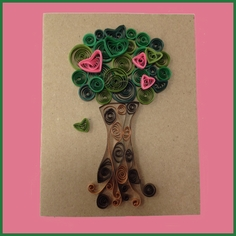Quilled Tree Valentine
