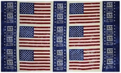 Island Batik Quilted In Honor Flag Panel Cotton Fabric - Navy