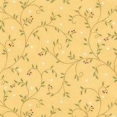 Quilter's Album - All Over Vine - Yellow - CLEARANCE