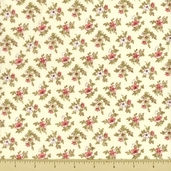 Quilter's Collectibles - September Floral - Cream - Clearance