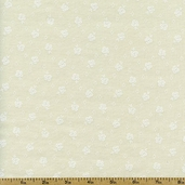 Quilter's Flour Plus Rosebud Cotton Fabric - Natural 9934-03T-M14