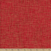 Quilter's Linen Metallic Cotton Fabric - Crimson