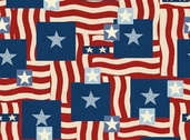 Quilting Treasures Patriotic - Multi- CLEARANCE