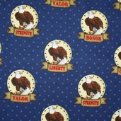Quilts of Valor Fabric - Navy