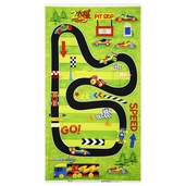 Race Day Race Track Playmat Cotton Fabric Panel