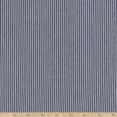 Railroad Stretch Denim Stripe Cotton Fabric