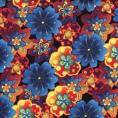 Rainbow Garden Fabric - Black