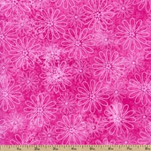 Rainbow Quilting Petals Cotton Fabric - Pink