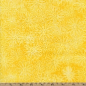 Rainbow Quilting Petals Cotton Fabric - Yellow - Clearance