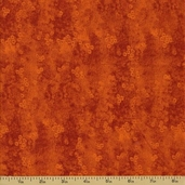 Raindrops Cotton Fabric - Orange