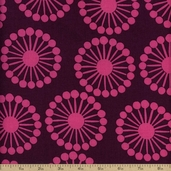 Raj Abstract Floral Cotton Fabric - Purple
