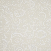 Ramblings 7 Swirls Cotton Fabric -Cream