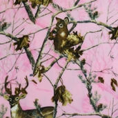 Realtree Branch Camo Fleece Fabric - Pink