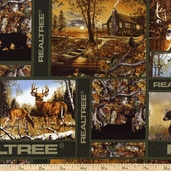 Realtree Patch Blocks Cotton Fabric - Camo