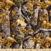 Realtree Woods Deer Cotton Fabric - Camo
