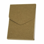 Recycled Notepad with Magnetic Closure - 5 x 4 inch - Natural - 6 pc