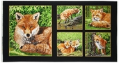 Red Foxes Cotton Fabric - Panel 3926-60608-8
