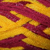 Red Heart Boutique Team Spirit Sashay Yarn - Burgundy/Gold