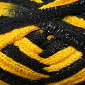 Red Heart Boutique Team Spirit Sashay Yarn - Gold/Black