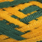 Red Heart Boutique Team Spirit Sashay Yarn - Green/Gold