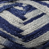 Red Heart Boutique Team Spirit Sashay Yarn - Navy/Grey