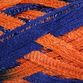 Red Heart Boutique Team Spirit Sashay Yarn - Orange/Navy