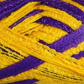 Red Heart Boutique Team Spirit Sashay Yarn - Purple/Gold
