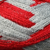 Red Heart Boutique Team Spirit Sashay Yarn - Red/Grey