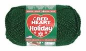 Red Heart Holiday Yarn - Hunter / Gold